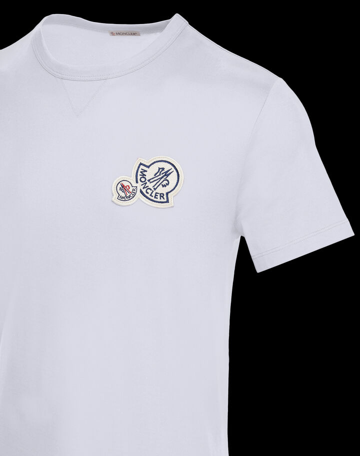 Moncler T-shirt with logo on chest Optical White