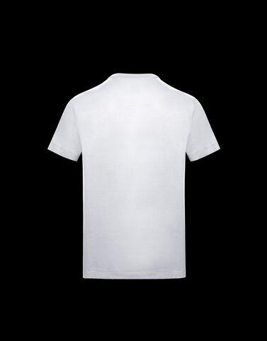 Moncler 맥시 로고 티셔츠 옵티컬 화이트