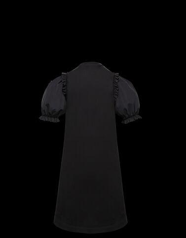 Moncler 플라워 아플리케 저지 드레스 블랙