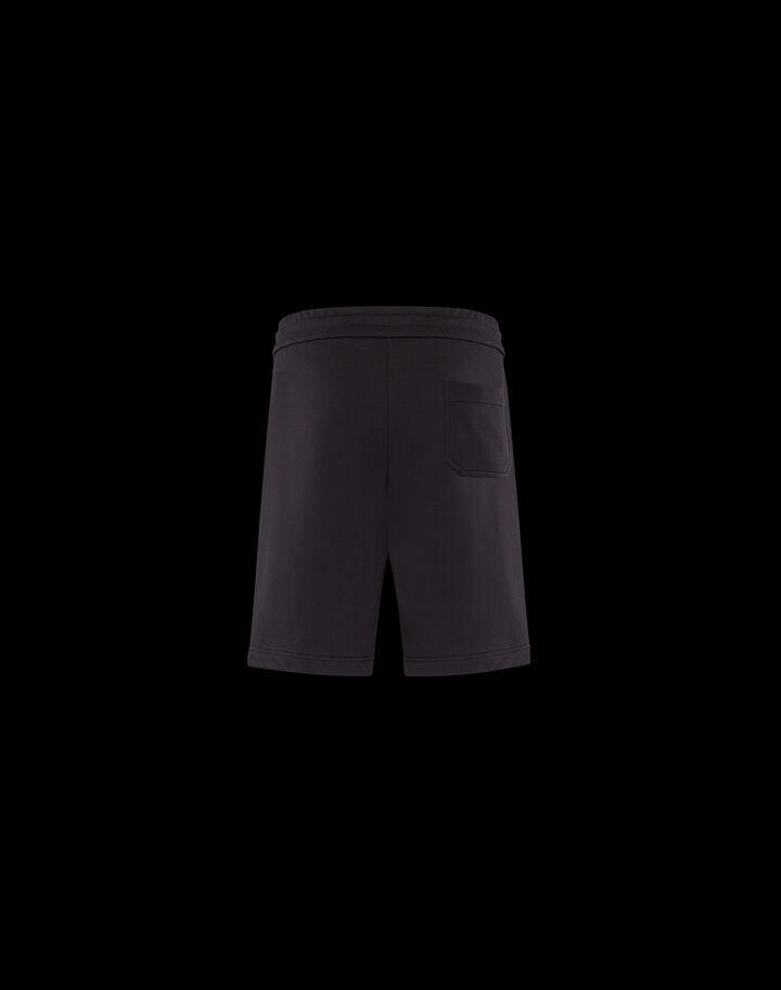 Moncler Embossed jersey bermuda shorts Black