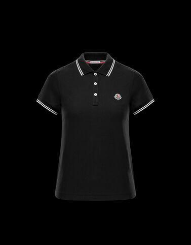 Moncler Moncler 로고 폴로 셔츠 블랙