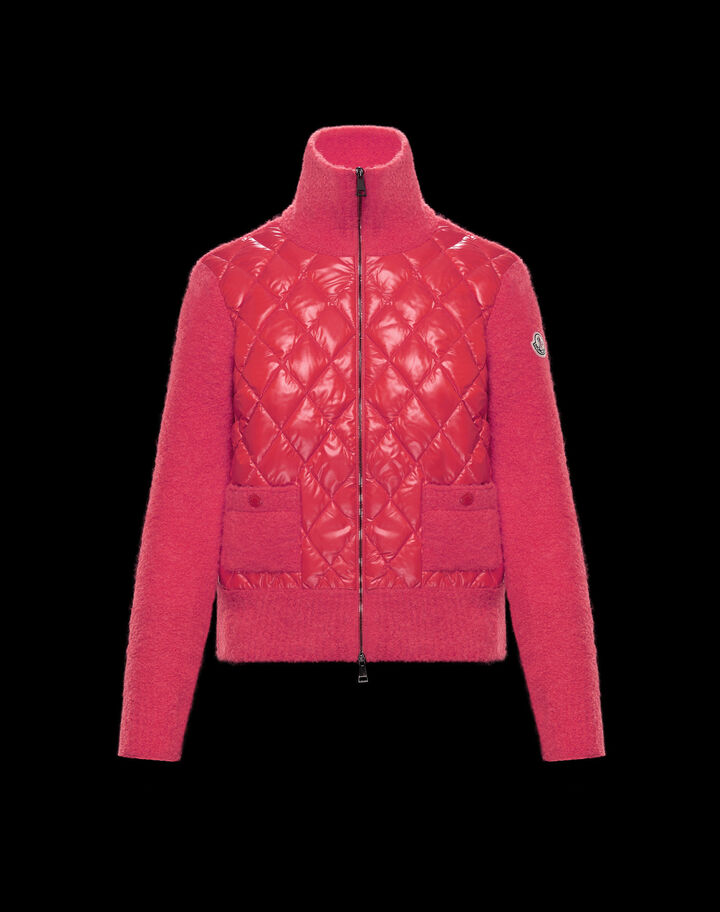Moncler Down sweater with two pockets Fandango Violet