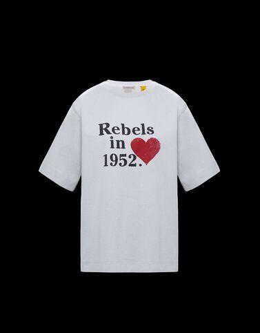 "Moncler ""Rebels in 1952"" 그래픽 티셔츠 옵티컬 화이트"
