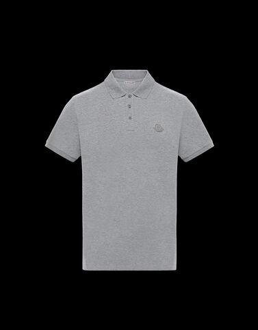 Moncler 초경량 피케 폴로 셔츠 라이트 그레이 멜란지