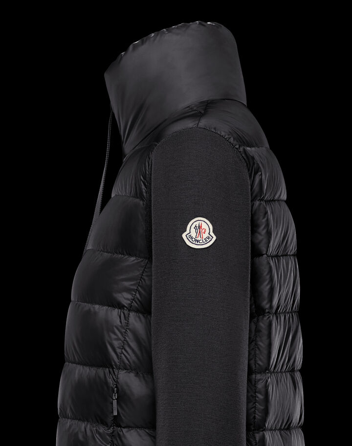 Moncler Long down sweater Black