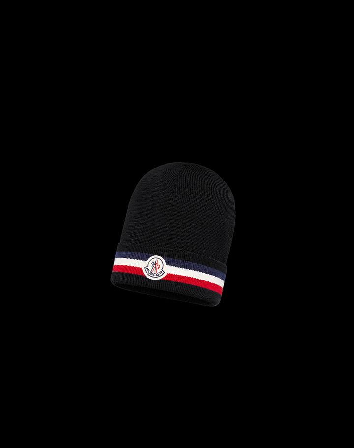 Moncler Tricolor beanie Black