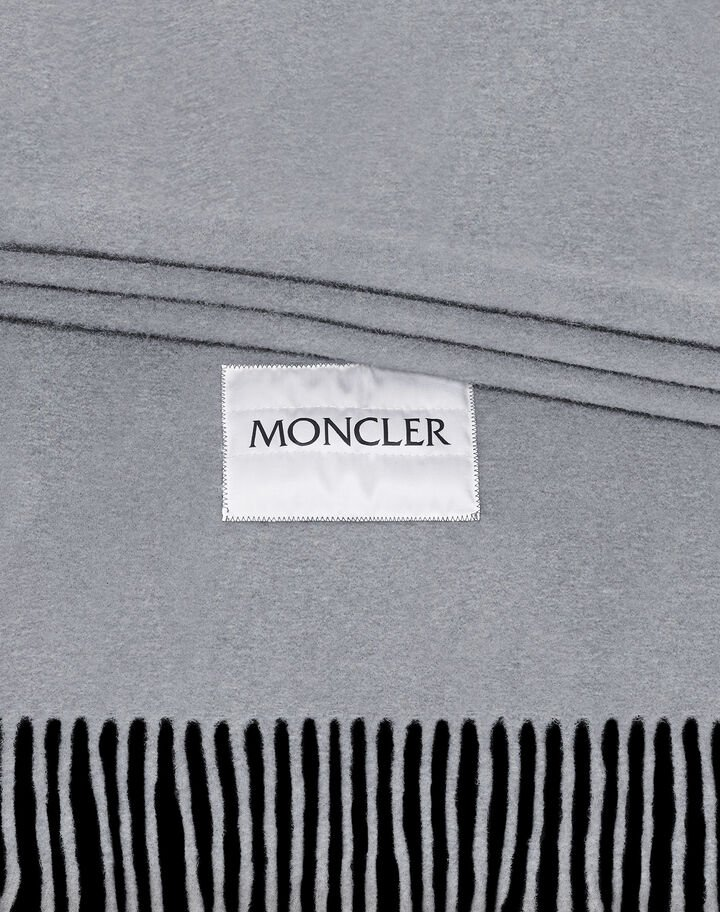 Moncler Wool scarf Melange Medium Gray