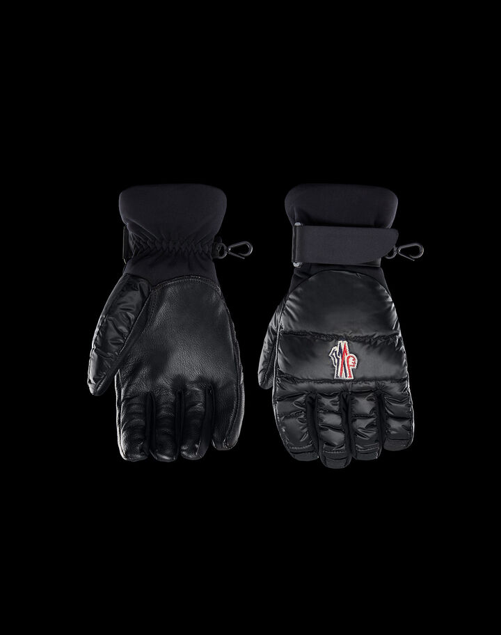 Moncler Ski gloves in light nylon Black