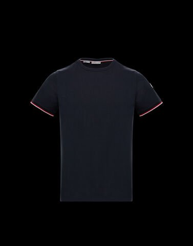 Moncler 크루넥 코튼 티셔츠 나이트 블루
