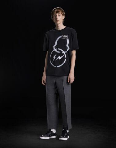 Moncler Fragment 로고 프린트 티셔츠 블랙
