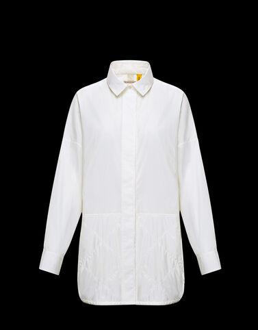 Moncler 나일론 인서트 셔츠 아이보리 화이트
