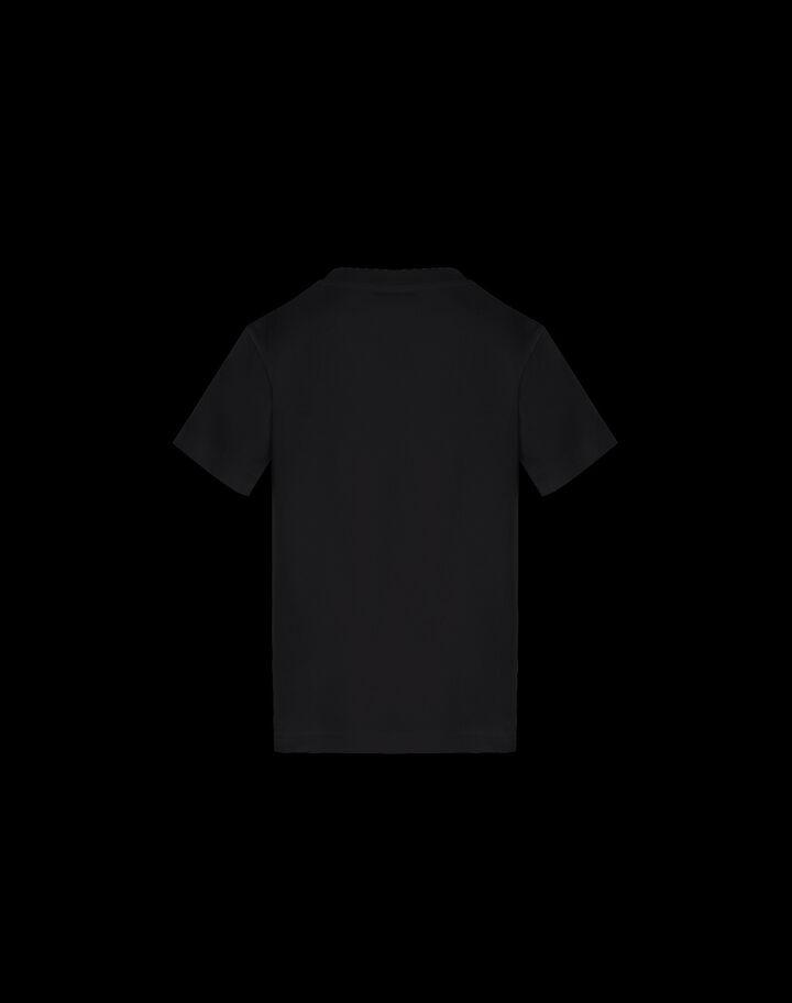 Moncler 형광 프린트 티셔츠 블랙