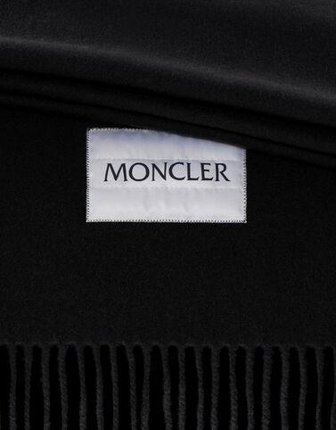 Moncler 울 스카프 블랙