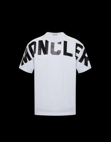 Moncler 무광택 레터링 티셔츠 옵티컬 화이트