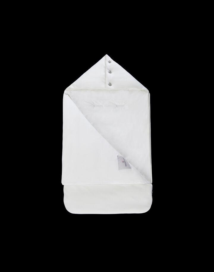 Moncler Baby sleep sack with logo Silk White