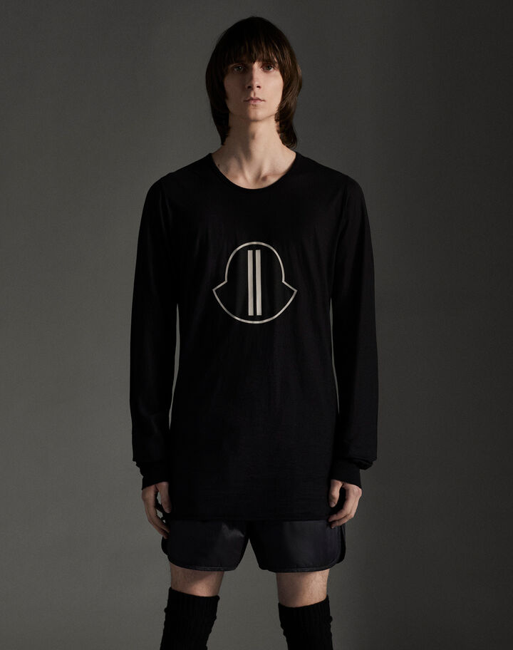 Moncler Long sleeve printed t-shirt Black