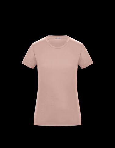 Moncler 로고 티셔츠 라이트 핑크