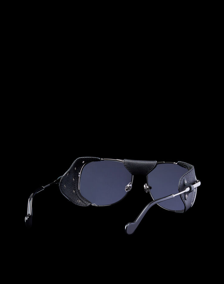 Moncler Aviator sunglasses Shiny Palladium