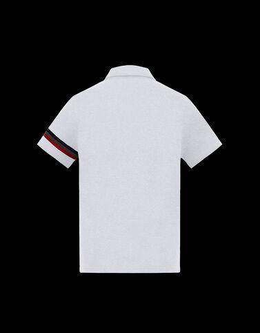 Moncler 반사 가공 디테일 폴로 셔츠 옵티컬 화이트