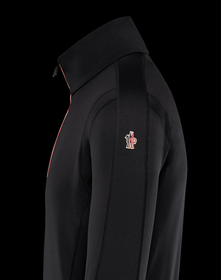 Moncler Pullover with zipper Black