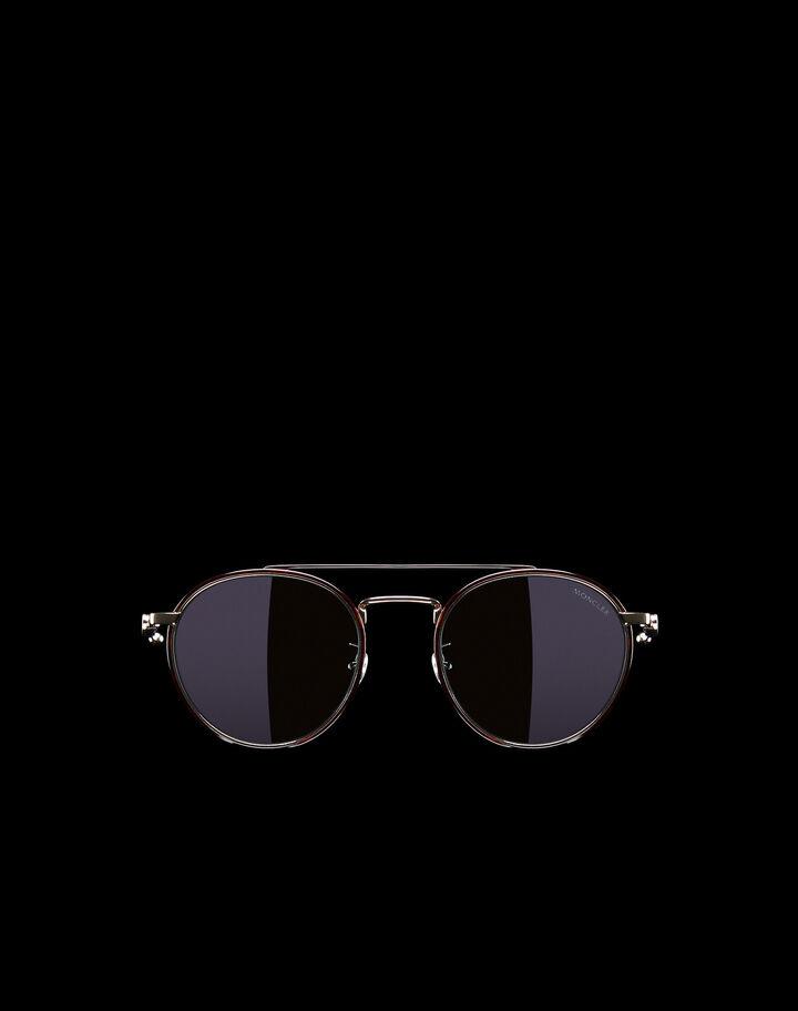 Moncler Rounded sunglasses Shiny Black