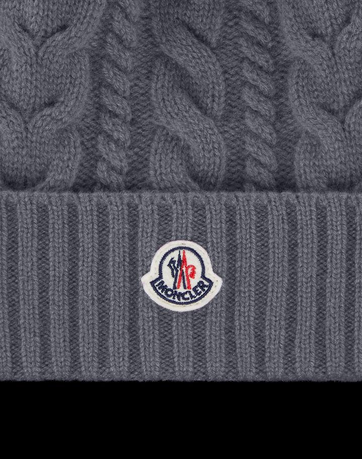 Moncler Cashmere wool beanie Medium Grey Melange