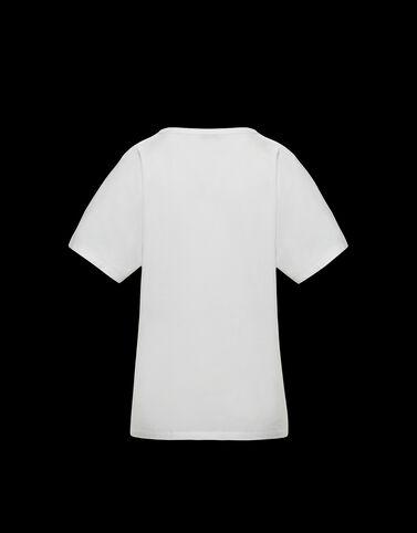 Moncler Moncler 프린트 티셔츠 실크 화이트