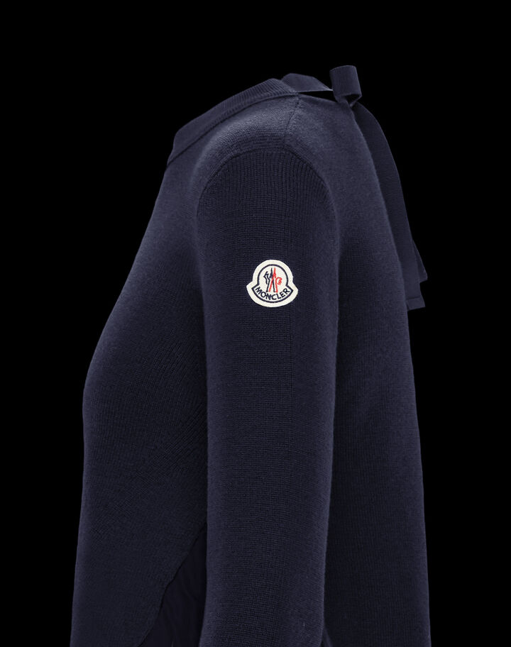 Moncler Sweater with nylon details Night Blue