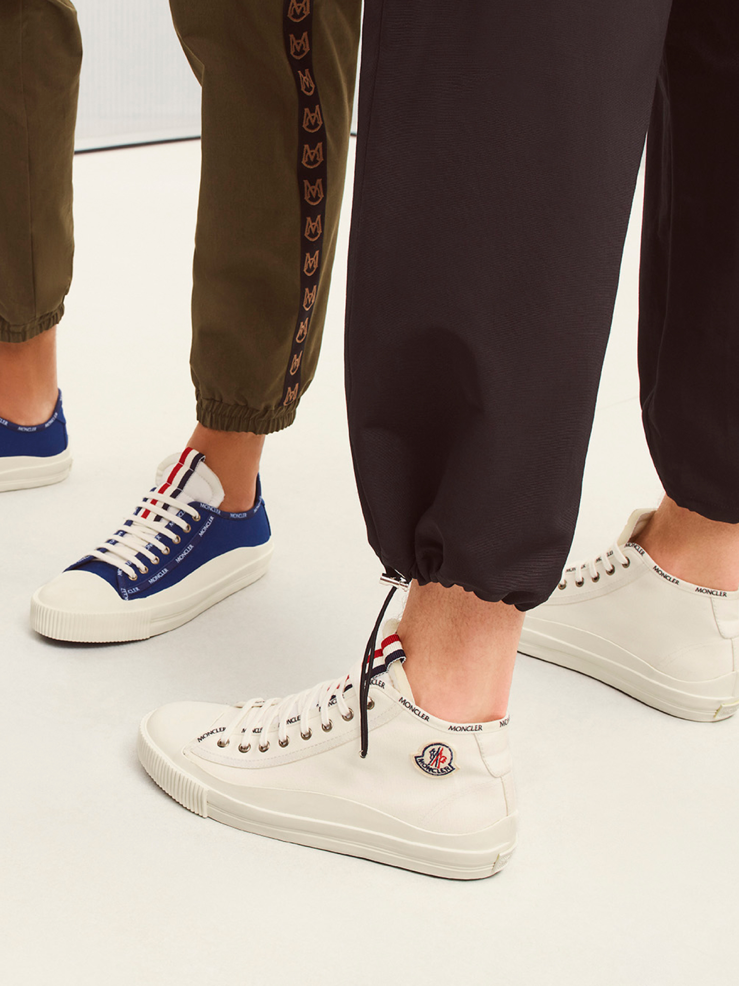 Moncler white sneakers