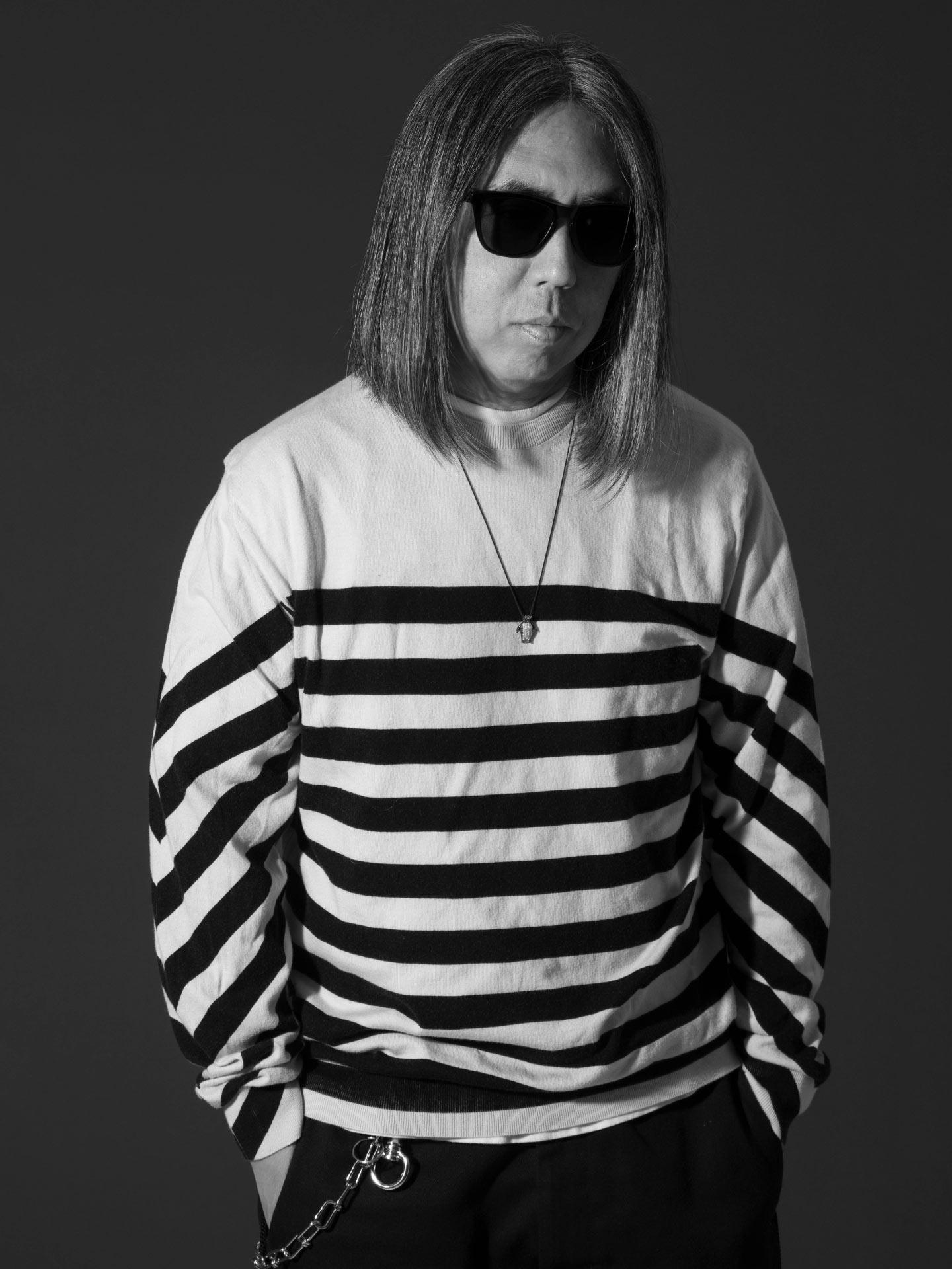 7 MONCLER FRGMT HIROSHI FUJIWARA - Black and white image of Hiroshi Fujiwara